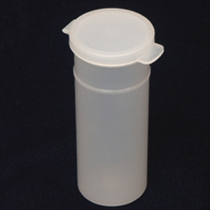 Natural Hinged Vials, 8oz, case/150