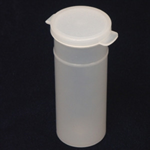 Natural Hinged Vials, 2.5oz, case/400