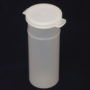 Natural Hinged Vials, case/400, 3oz