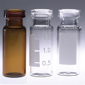 Chromatography Vials, 2mL, Clear Snap Seal, case/1000