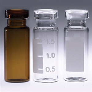 Amber Chromatography Vials, 2mL, Wide Crimp Top, case/1000