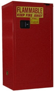 Flammable Storage Cabinet, 16 gal, self-closing