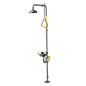 Speakman SE-625 Eyewash Safety Shower Combo, Stainless Steel, Pull Rod Activator