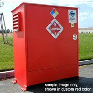Hazmat Storage Building, 2-hour Fire Resistant 2 drum Outdoor Locker