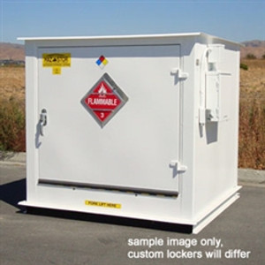 Hazmat Storage Building, 2-hour Fire Resistant 4 drum Outdoor Locker