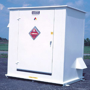 Hazmat Storage Building, 2-hour Fire Resistant 6 drum Outdoor Locker