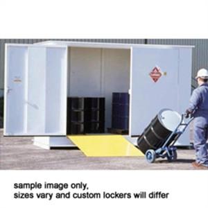 Hazmat Storage Building, Non-combustible LK06, 6 drum Outdoor Locker