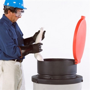 UltraTech 0460 Drum Funnel with lid for open head drums, LDPE