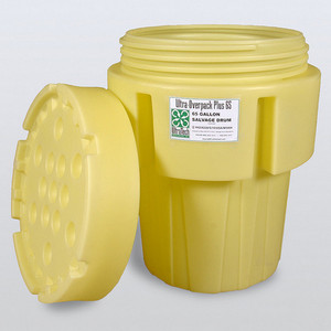 UltraTech 0582 Overpack Plus Drum Containment, 65 gal, DOT Yellow, UN Rated