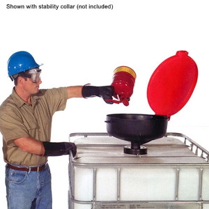 """Burp-Free Large Drum Funnel fits 2"""" NPT or 6"""" IBC Tote"""