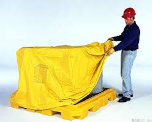 UltraTech 1006 Spill Pallet P4 Pull-over Cover for 4-Drum Spill Pallets, Yellow