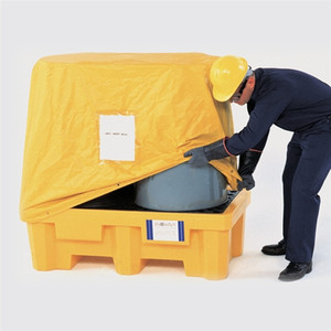 UltraTech 1016 Spill Pallet P2 Pull-over Cover for 2-Drum Spill Pallets, Yellow