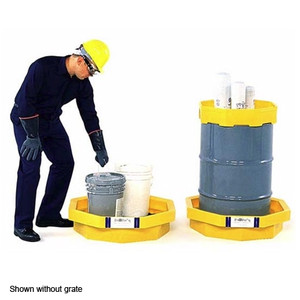 UltraTech 1045 Drum Spill Tray with optional grate