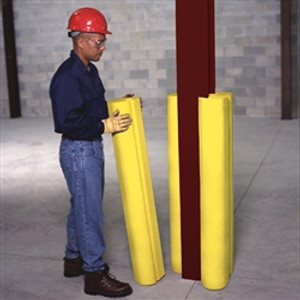"UltraTech 1521 I-Beam Protector, 42"" Yellow Polyethylene Bumper Guard"