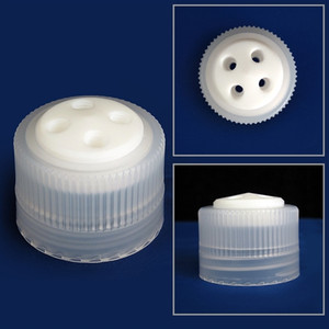 4-Port Cap/ Filling Cap for Nalgene 38-430 Bottle, Complete Kit