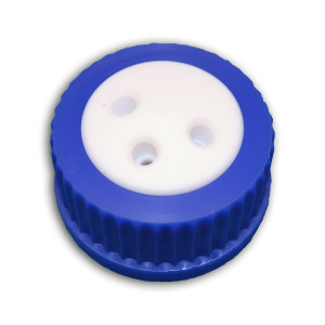 3-Port Cap for Glass Bottle, GL45, Complete Kit