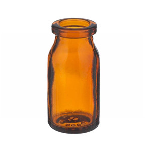 5mL Amber Serum Bottle, Borosilicate Glass, case/288