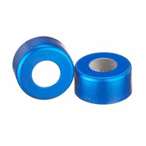 11mm Seal, Open Top Hole Cap, Aluminum Blue, Unlined, case/1000