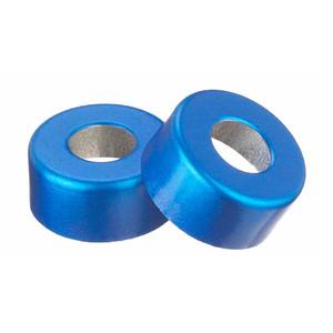 224177-05 13mm Seal, Open Top Hole Cap, Aluminum Blue, Unlined, case/1000