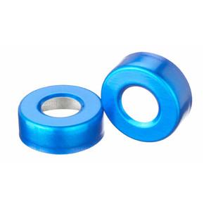 20mm Seal, Open Top Hole Cap, Aluminum Blue, Unlined, case/1000