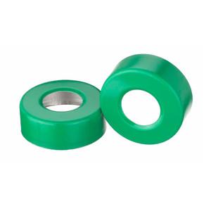 20mm Seal, Open Top Hole Cap, Aluminum Green, Unlined, case/1000