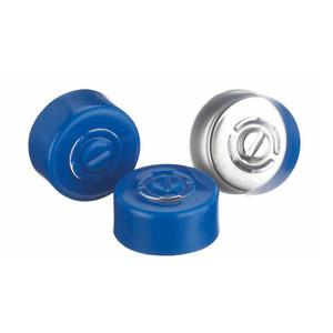 13mm Seal, Center Tear-Out, Aluminum Blue, Unlined, case/1000