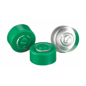 224182-07 13mm Seal, Center Tear-Out, Aluminum Green, Unlined, case/1000