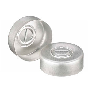 20mm Seal, Center Tear-Out, Aluminum, Unlined, case/1000