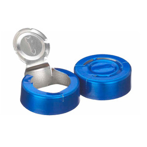 20mm Seal, Tear Off, Aluminum Blue, Unlined, Case/1000