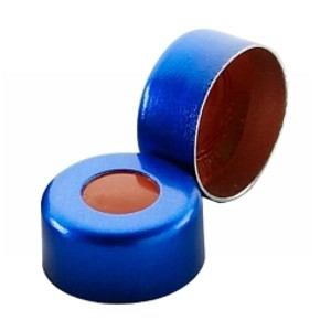 11mm Seal, Aluminum Blue, PTFE/Red Rubber, case/1000