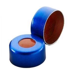 11mm Seal, Aluminum Blue, PTFE/Silicone, case/1000