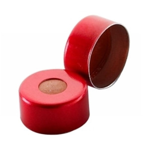 11mm Seal, Aluminum Red, PTFE/Silicone, case/1000