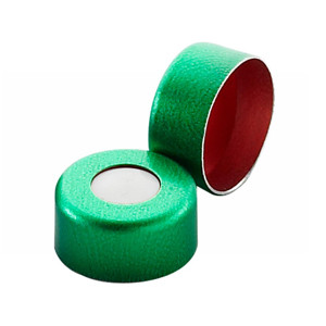 11mm Seal, Aluminum Green, PTFE/Silicone, case/1000