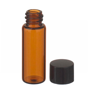 2mL, Economy Vials, Glass Amber, 8-425 Cap, Rubber, case/200