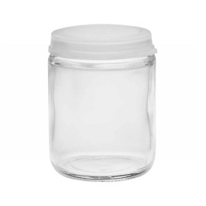 Wheaton 225544 60mL Glass Sample Bottle with Clear Snap Caps, case/72