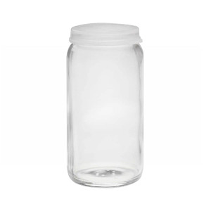 120mL Glass Sample Bottle, Clear Snap Caps, case/72