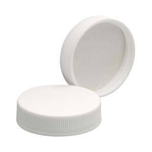43-400 Polypropylene Caps, White, Vinyl Liner, case/72