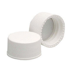 Wheaton 239226 15-425 Polypropylene Caps, White, PTFE Liner, case/144