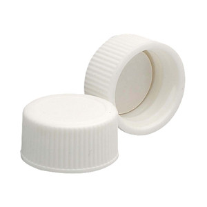 Wheaton 239227 18-400 Polypropylene Caps, White, PTFE Liner, case/144