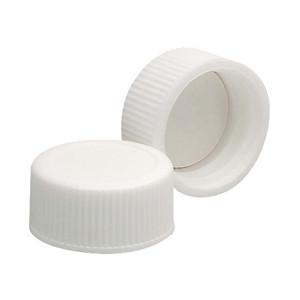 20-400 Polypropylene Caps, White, PTFE Liner, case/144