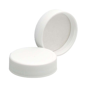 Wheaton 239237 38-400 Polypropylene Caps, White, PTFE Liner, case/72