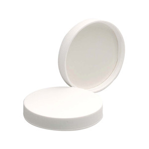 63-400 PP Caps, White, PTFE Faced/Foamed Poly Liner, case/48