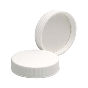 45-400 PP Caps, White, Foamed Poly Liner, case/72