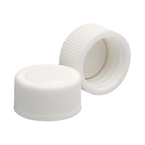 13-425 PP Caps, White, PTFE Liner, case/19000