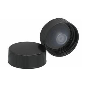 28-400 Black Caps, Poly Cone Liner, case/100