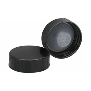33-400 Caps, Black, Leakproof Cone Liner, case/100