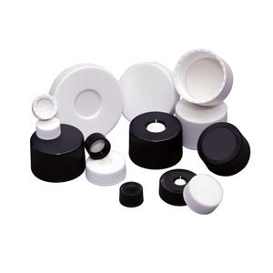 33-400 Microlink Caps, White, Open, PP/Silicone/PTFE, case/24