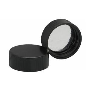 28-400 Caps, Black, Foil Liner, case/100