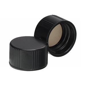 13-425 Caps, Phenolic Black Caps, PTFE Liner, case/200