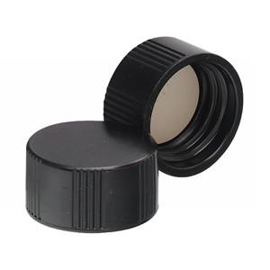 15-425 Caps, Phenolic Black Caps, PTFE Liner, case/200